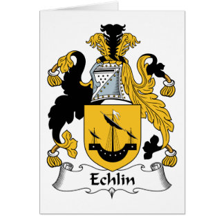 Echlin Family Crest Greeting Card