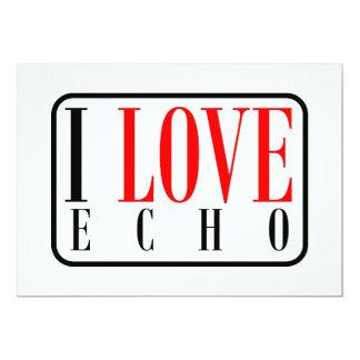 Echo, Alabama 5x7 Paper Invitation Card
