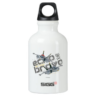 Echo and  Bravo Jolly Wrenches Aluminum Water Bottle