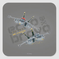 Echo and Bravo Jolly Wrenches Square Sticker