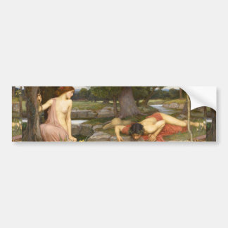 Echo and Narcissus by John William Waterhouse Car Bumper Sticker