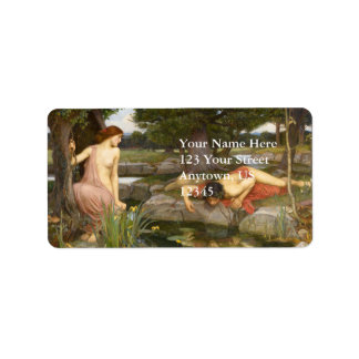Echo and Narcissus by John William Waterhouse Personalized Address Label
