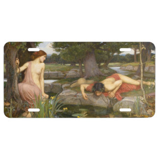 Echo and Narcissus by John William Waterhouse License Plate