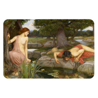 Echo and Narcissus by John William Waterhouse Magnet