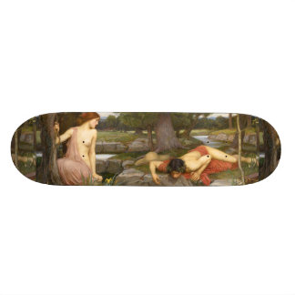 Echo and Narcissus by John William Waterhouse Skateboard Deck