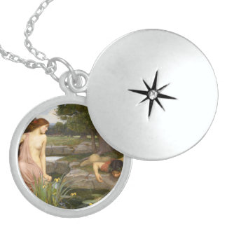 Echo and Narcissus by John William Waterhouse Sterling Silver Necklace