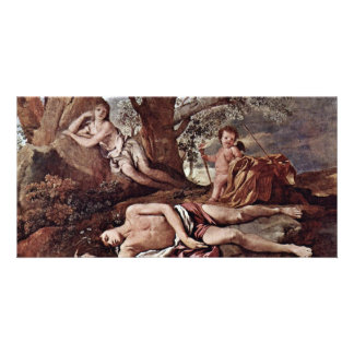 Echo And Narcissus By Poussin Nicolas Picture Card