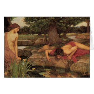 Echo and Narcissus fine art Greeting Card