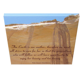 Echo Canyon, New Mexico Tribute to Mother Earth Canvas Prints
