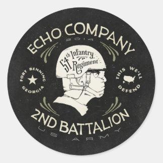 Echo Company 2nd Battalion 54th Infantry Regiment Classic Round Sticker