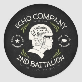 Echo Company 2nd Battalion 54th Infantry Regiment Classic Round Sticker