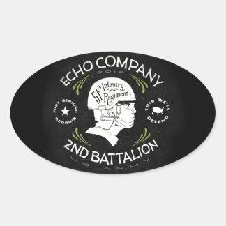 Echo Company 2nd Battalion 54th Infantry Regiment Oval Sticker