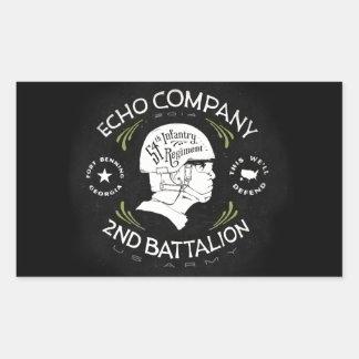 Echo Company 2nd Battalion 54th Infantry Regiment Rectangular Stickers