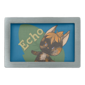 Echo Crossing-Style Kitty Rectangular Belt Buckles