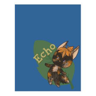 Echo Crossing-Style Kitty Postcard