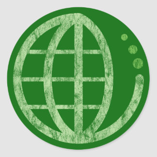 echo earth classic round sticker