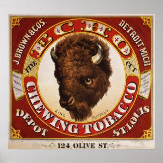 Echo fine cut chewing tobacco poster