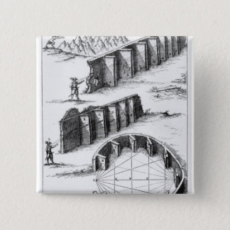 Echo Formation, book by Athanasius Kircher Pinback Button