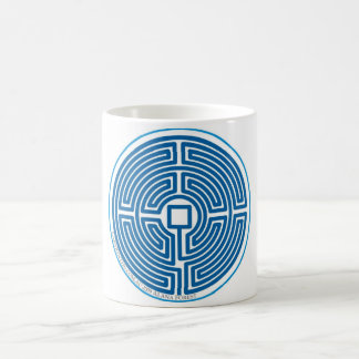 echo labyrinth chinese blue coffee mug