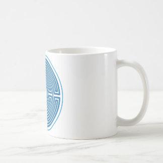 echo labyrinth chinese blue coffee mugs