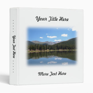 Echo Lake Mt Evans Colorado 3 Ring Binder