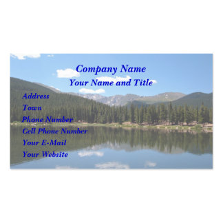 Echo Lake Mt Evans Colorado Double-Sided Standard Business Cards (Pack Of 100)