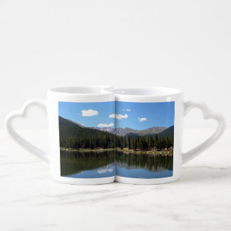 Echo Lake Mt Evans Colorado Couples' Coffee Mug Set