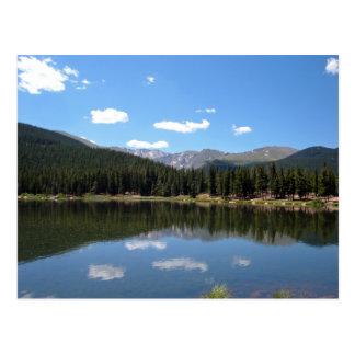Echo Lake Mt Evans Colorado Postcard