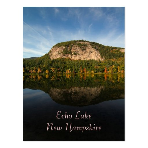 Denver News Echo Lake: Echo Lake, NH Postcard