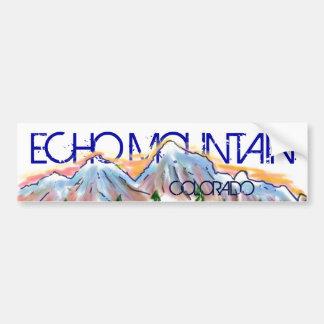Echo Mountain Colorado artistic mountain sticker Car Bumper Sticker