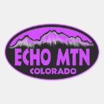 Echo Mountain Colorado purple oval stickers