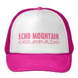 Echo Mountain Colorado simple pink hat