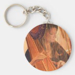 """""""Echo of Angels"""" Harp Player Watercolor Keychain"""