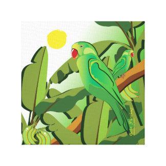 Echo Parakeet Bird Canvas Print