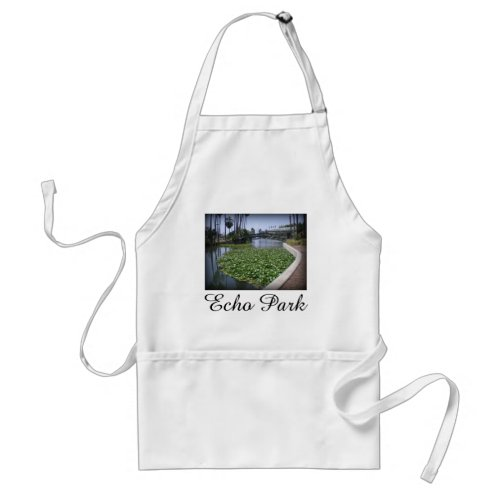 Echo Park Lake in Los Angeles, California Adult Apron