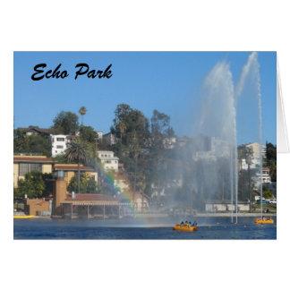 Echo Park Lake -Los Angeles Card