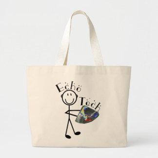 Echo Tech Gifts Cardiac Echo Technician Tote Canvas Bags