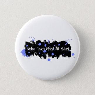 Echo Tech Hard At Work Blue Pinback Button