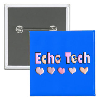 Echo Tech PINK HEARTS Design Gifts Pins