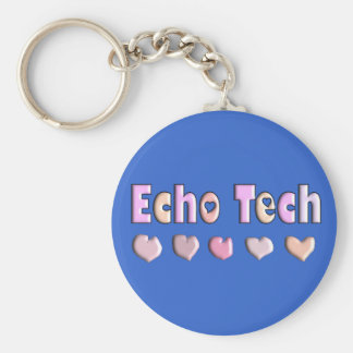 Echo Tech PINK HEARTS Design Gifts Keychain