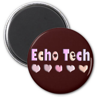 Echo Tech PINK HEARTS Design Gifts Refrigerator Magnet