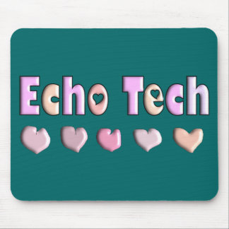 Echo Tech PINK HEARTS Design Gifts Mouse Pad