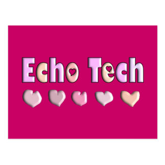 Echo Tech PINK HEARTS Design Gifts Post Cards