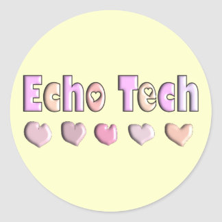 Echo Tech PINK HEARTS Design Gifts Stickers