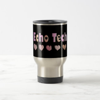 Echo Tech PINK HEARTS Design Gifts Travel Mug
