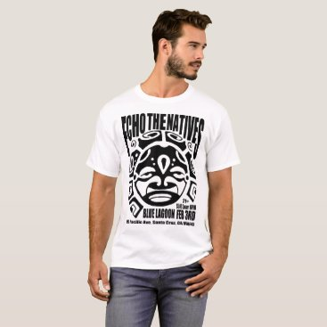 Aztec Themed Echo The Natives Aztec Blue Lagoon Tee White