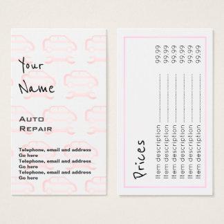 """Echoes"" Auto Repair Price Cards"