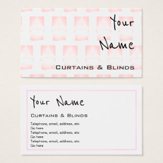 """""""Echoes"""" Curtains and Blinds Business Cards"""
