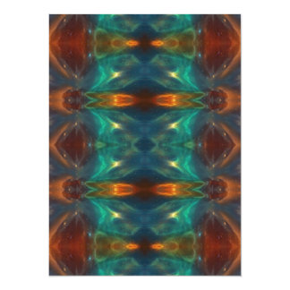 Echoes From the Depths.Abstract Digital Art Design 5.5x7.5 Paper Invitation Card