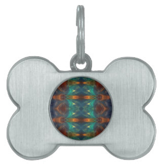 Echoes From the Depths.Abstract Digital Art Design Pet Name Tags